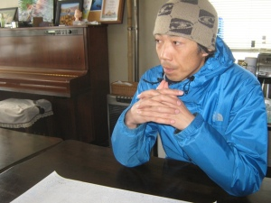 Kawahara-san, imparting great wisdom about his corner of the natural world.